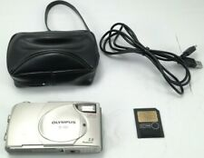 Vtg Olympus Camedia D-380 2Mp Digital Camera W/ 128Mb Sm Card, Usb Cable,Tested