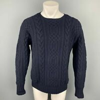 POLO by RALPH LAUREN Size M Navy Hand Knit Cashmere Crew-Neck Sweater