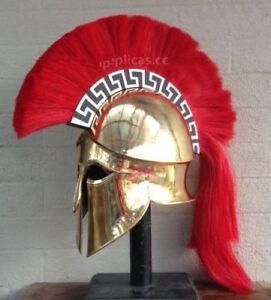 Medieval Wearable Greek Corinthian Helmet Free Leather Liner Knight Christmas