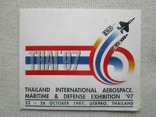 AUTOCOLLANT STICKER AUFKLEBER THAI 97 UTAPAO THAILANDE AEROSPACE DEFENSE EXHIB