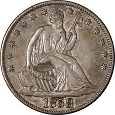 1858-O Seated Half Dollar Choice AU Superb Eye Appeal Nice Luster Strong Strike