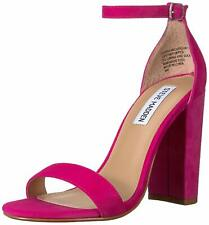 Steve Madden Womens carrson Suede Peep Toe Casual Ankle, Hot Pink, Size 6.5 ob5l