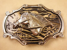Large Argentinian Concho Belt Buckle Horse Head
