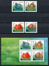 Singapur Singapore 2002 Fische Fishes Poissons Freimarken 1178-81 Block 85 MNH