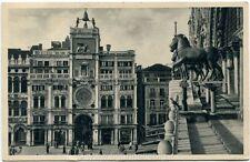 1950 Venezia - I cavalli di bronzo, vista mori orologio - FP B/N VG ANIM