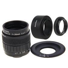 Fujian 35mm F1.7 CCTV Movie lens +C Mount +Hood to Olympus Panasonic Micro M4/3