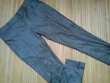 Asombroso River Island Damas Brillante Pantalones Skinny Jeans Tamaño 10 L. corto (0.3