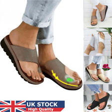 Summer Womens Comfy Platform Sandals PU Leather Toe Ring Casual Beach Shoes UK