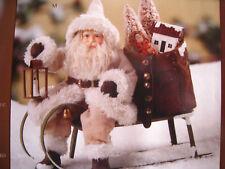 Bethany Lowe Christmas Small Woodland Santa on Sled New 2018 TD7679