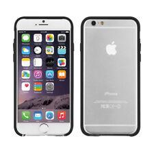 Transparente / Negro Marco Resistente Funda Antigolpes Para Apple IPHONE 6/6S By