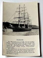 CUTTY SARK - vintage postcard - unused