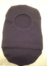 """Ostomy pouch cover  # 50   2 1/2"""" opening, black cotton knit"""