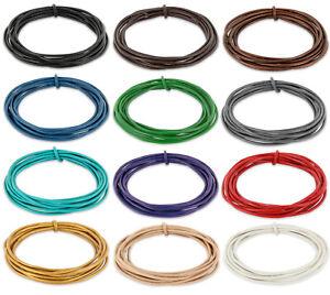 Lederband 2mm rund aus Rindsleder - Lederschnur Lederbänder Echtleder