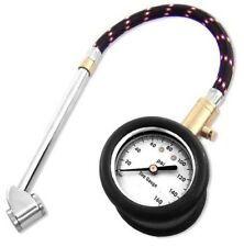 Air Tire Gauge, Flexible Hose, Dual Tire Chuck and 160 PSI Gauge