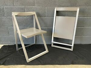 PAIRT OF CONNUBIA CALLIGARIS SKIP FOLDING CHAIRS BRAND NEW