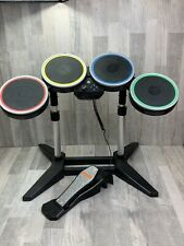 Wii Harmonix Rockband 2 Rock Band Wired Drum Set With Stand Nintendo *Tested*