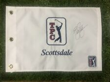 TPC SCOTTSDALE GOLF FLAG HAND SIGNED BY RICKIE FOWLER RYDER CUP THE OPEN MASTERS