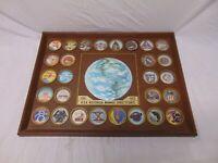 """1972 NASA Space Plaque Model Apollo Gemini Mercury 1961-72 20"""" x 15 Space Flight"""