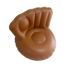 Inflatable baseball glove chair with pump