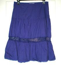 Jolie jupe coton violet + crochet SESSUN T 38 TBE