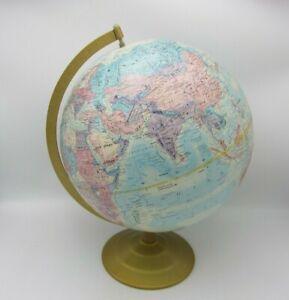 """VTG GLOBEMASTER WORLD CLASSIC DESK TABLE GLOBE 12"""" STUDENT HOME OFFICE USA"""