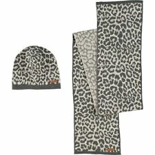 COACH Designer Luxurious Ocelot Hat And Scarf Box Set - rrp £240