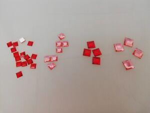 2400 x Glitzersteine Strasssteine Schmucksteine Diamanten QUADRAT flach 4 Größen