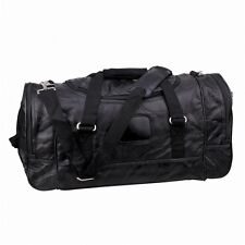 "21"" Genuine Leather Black Duffle Tote Bag Gym Bag Weekend Bag Men Travel Luggage"