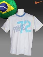 Nuevo Nike Brasil 72 equipo de Fútbol Vintage Algodón Camisetas azul cielo