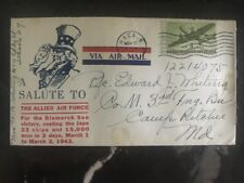 1944 USA Patriotic Cover Salute To The Allied Air Force To Camp Richie
