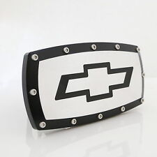 Chevrolet Bowtie Black Trim Chrome Billet w/ Allen Bolts Tow Hitch Cover