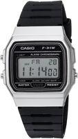 Casio Men's Digital Quartz Stopwatch Stainless Steel Black Resin Watch F91WM-7A