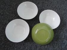 More details for green melaware melmex melamine cereal bowls x 4  camping camper van caravan 636g