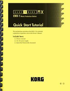 Korg Electribe EMX-1 QUICK START GUIDE