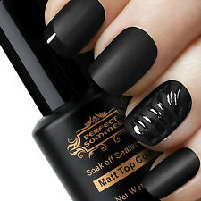 8 ml New Manicure Art Finisher Matte Top Coat Soak Off Sealer Gel UV Nail Polish