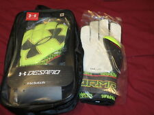 NEW NWT Under Armour clutch Desafio Soccer Keeper / Goalie gloves - size 9 $60