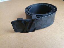 Authentic LOUIS VUITTON Damier Graphite Initiales Belt Size 36/90 Authenticate4U