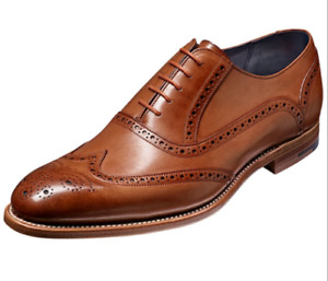 Handmade Men's Brown Leather Laceup Oxford Shoes