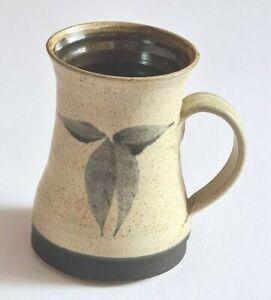 Studio Pottery-Stoneware-Mug-Hand Crafted-Hand Decorated-Signed