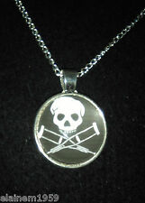 "Jackass Skull Cabachon glass dome Necklace Pendant.20"" chain"