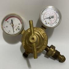 Victor Pressure Compressed Inert Gas Regulator Valve Amp Gauge Sr250d Brass