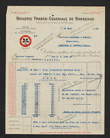 BORDEAUX (33) HUILES / HUILERIE FRANCO-COLONIALE en 1920