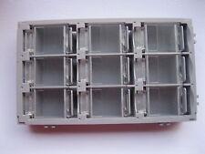 2 pcs SMD SMT Electronic Component Mini storage box 9 blocks Gray Color T-155