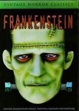 HORROR CLASSICS-FRANKENSTEIN Vintage movies-2 DVD set-R1-BRAND NEW-Still Sealed