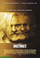 "MOVIE POSTER~Instinct 1999 27x40"" Original Film Sheet Cuba Gooding Jr. Hopkins~1"