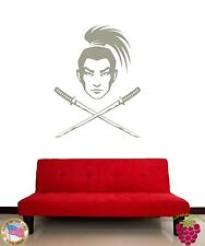 Wall Stickers Vinyl Decal Japan Samurai Warrior Cold steel Katana z1168