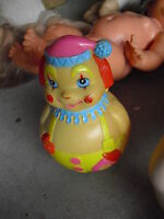 "Vintage 1972 Kiddie Products Clown Character Rolly Polly Toy 6 1/4"" Tall"