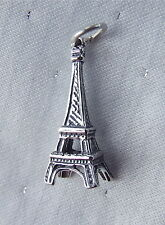 EIFFEL TOWER PARIS FRANCE HOLIDAY 3D CHARMS CHARM 925 STERLING SILVER