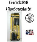 Klein+Tool+85105+Screwdriver+Set%2C+Slotted+and+Phillips%2C+4-Piece%2C+New