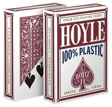 1 Deck Hoyle 100% Plastic Standard Poker Playing Cards Red Brand New Deck